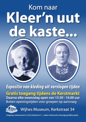 """""""Kleer'n uut de kaste"""", nieuwe expositie in Wijhes Museum"""