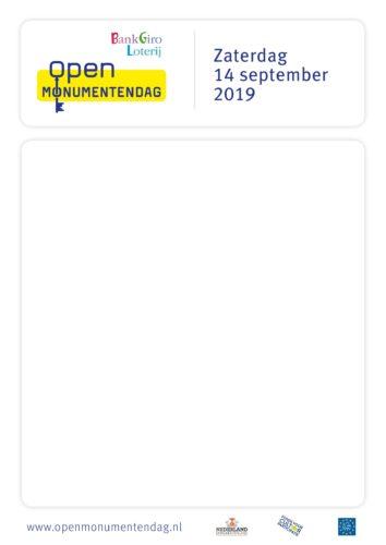 Open monumentendag 14 september 2019