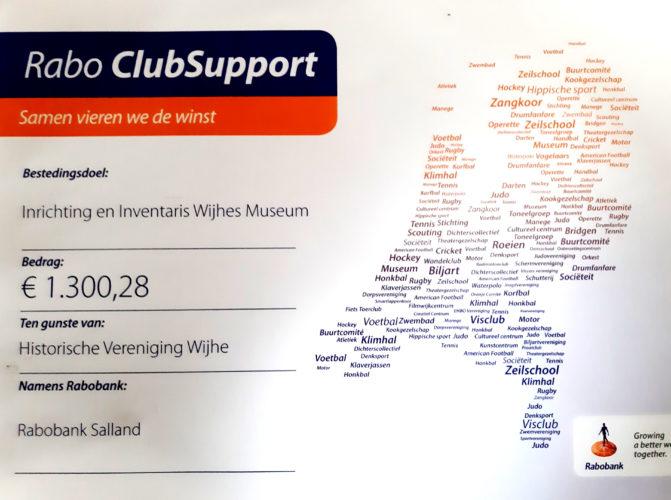 Resultaat Rabo Clubsupport