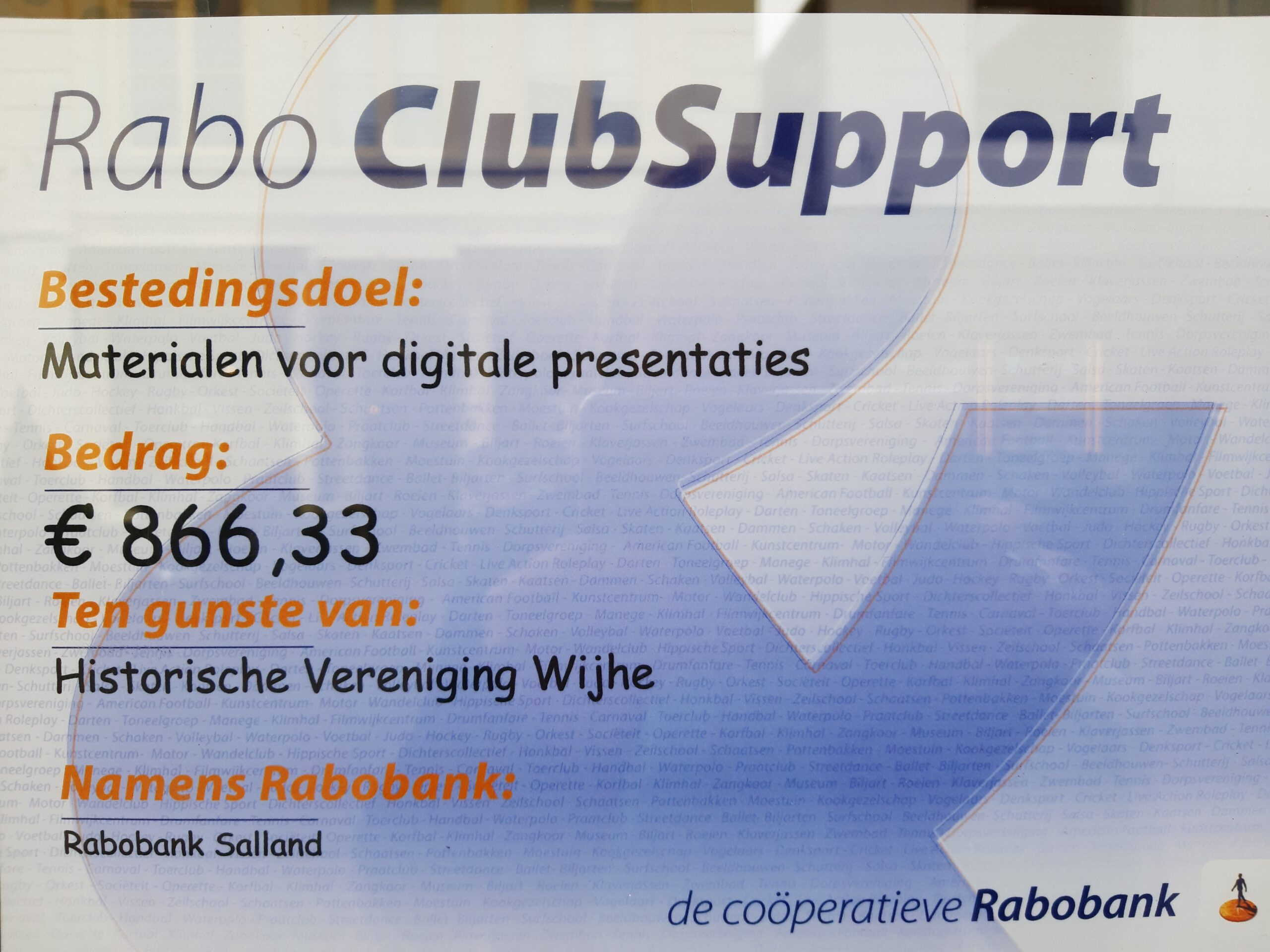 Raboclubsupport Actie